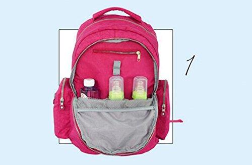 Bolso de la momia del hombro, morral, paquete de la madre de múltiples funciones impermeable de la capacidad grande, mujeres embarazadas maternas y del niño para ser paquete producido ( Color : Purple Rosa