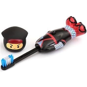 Cepillo dientes desplegable negro rojo Ninja de Prime Nakamura: Amazon.es: Juguetes y juegos