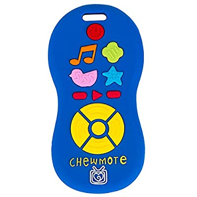 Silli Chews Chewmote Remote Control Baby Teether Blue Infant Safe Silicone Teething Toy : Baby