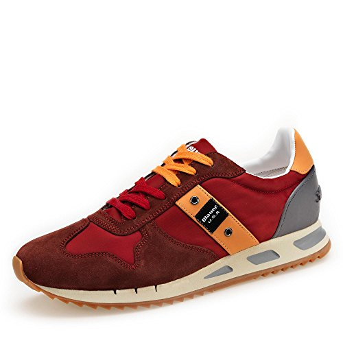 41 Bordeaux SHOES Sneakers BLAUER 8SMEMPHIS05 NYL Uomo YqS8WX