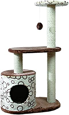 Sisal & Fur Cat Post Scratcher With The Best Service Cat Supplies Dishes, Feeders & Fountains
