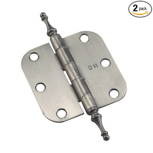 Full Mortise Butt Hinge with Steeple Tips Antique Nickel  Finish Traditional 71820ANB Box of 2 Richelieu Hardware