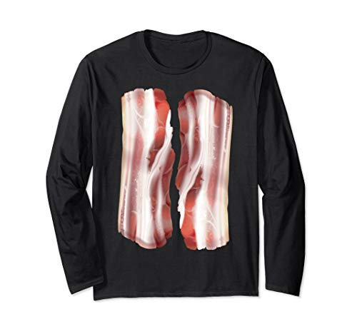 Real Bacon Halloween Costume Long Sleeve Shirt