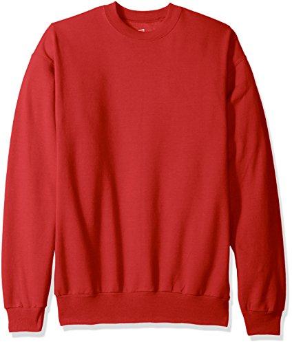 Hanes Red Sweatshirt (Hanes Men's EcoSmart Fleece Sweatshirt, Deep Red, Large)