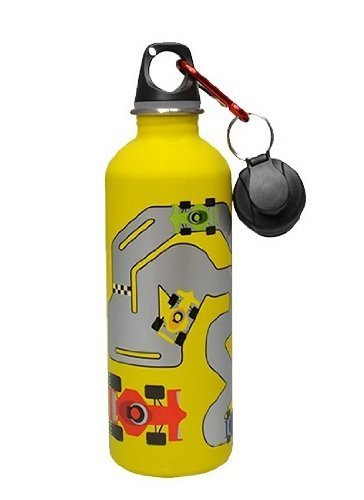 Cheeki 500ml Stainless Steel Bottle - Racetrack - BPA Free