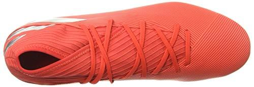 adidas Men's Nemeziz 19.3 Firm Ground Soccer Shoe, Active Red/Silver Metallic/Solar Red, 7.5 M US 5