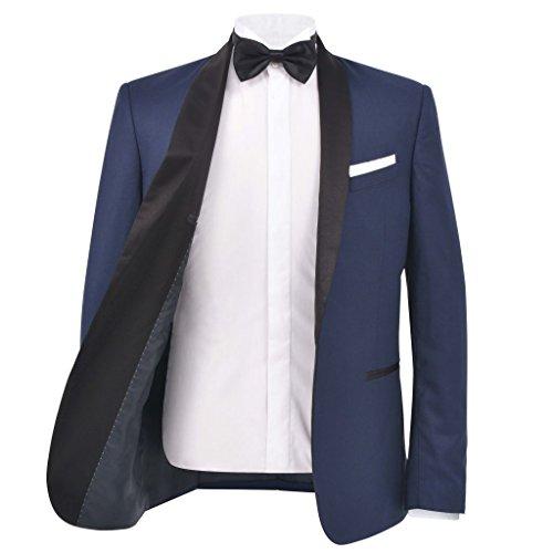 matrimonio 54 52 46 Marino Da Pz A Smoking Blu Per bianco 48 Festnight Borgogna Marino In 2 Taglia vestito rosso 56 Uomo abiti 50 Tessuto Cerimonia T6WFn