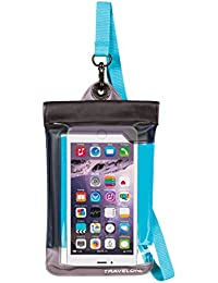 Floating Waterproof Smart Phone/Digital Camera Pouch, Blue