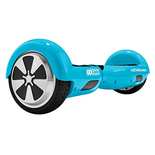 Smart Electric Self Balancing Hoverboard - 2018 Two Wheel Balance Hover Board Segway Scooter w/ Rechargeable Battery, Charger, Accessories, 8 MPH Max Speed, For Kids Adults - Hurtle PSCOOT33BL (Blue) ()