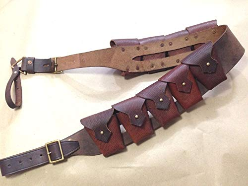 UK 1903 Pattern Leather Cavalry Bandolier Oiled Leather - Repro JAWA Costume,WWII Reproduction, WW2 Reproduction,WWII/WWI, Collectibles Goods,Collectibles Products,WWII repro