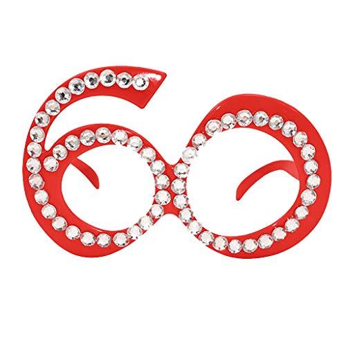 Costume Soleil 60 Drôle Kaister Crazy Partie Nouveauté Rouge Déguisement Lunettes Accessoires De xSXXP0n
