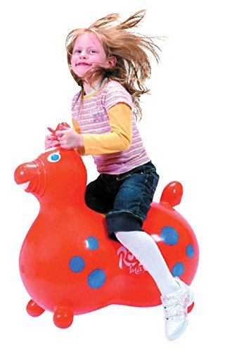 Gymnic Rody Max Inflatable Horse, 18 in H Seat, Orange by Gymnic (Image #1)