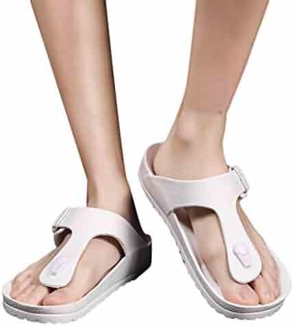 965a5670e iLXHD Men s Sandal Summer Beach Breathable Shoes Sandals Male Slipper Flip-Flops  Flat Shoes Quick