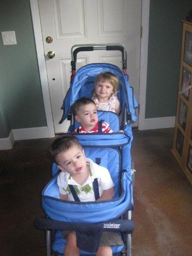 Amazon.com : Foundations Trio Triple Tandem Stroller, Blue ...