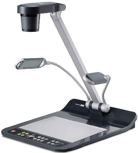 Lumens PS750 Multimedia Desktop Document Camera; High resolution, 720p, SXGA, and XGA; 15x optical zoom and 6x digital zoom; Excellent color reproduction; One-touch video/audio recording and playback by Lumens