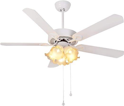 Luz de ventilador, luz de ventilador LED de techo con interruptor ...