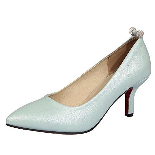 Mee Shoes Damen Niedrig ohne Verschluss Pumps Hellblau