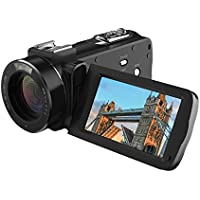 Camera Camcorders, HD 720P 16MP 16X Digital Zoom Video Camcorder with 2.7 LCD and 270 Degree Rotation Screen