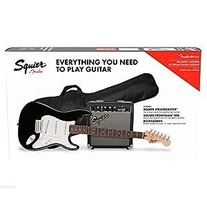 Fender, Squier, Stratocaster Pack BLK, mit Frontman 10G, Tasche und Zubehör