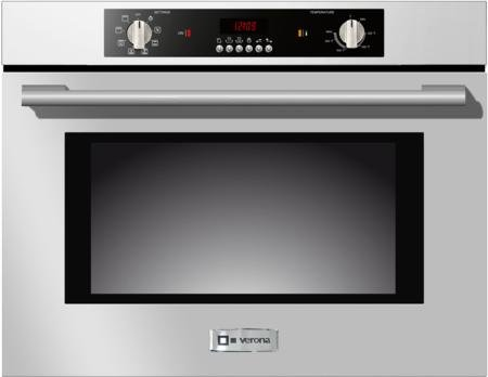 Verona VEBIEM301SS 30'' Electric 110 Volts Wall Oven With 2.8 Cu. Ft. Oven Capacity 8 Cooking Functions Electronic Controls 3 Pane Heat Resistant Glass Door and a Heavy Duty Oven Rack by Verona