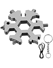 19 in 1 Snowflake Multitool, Gifts for Men for Dad Husband Boyfriend,Fun Snowflake Gadget