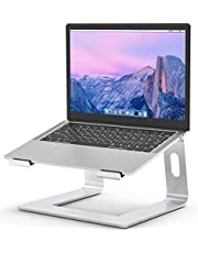 """BBESIGN LS03 Aluminum Laptop Stand, Ergonomic Detachable Computer Stand, Riser Holder Notebook Stand Compatible with Air, Pro, Dell, HP, Lenovo More 10-15.6"""" Laptops (Silver)"""