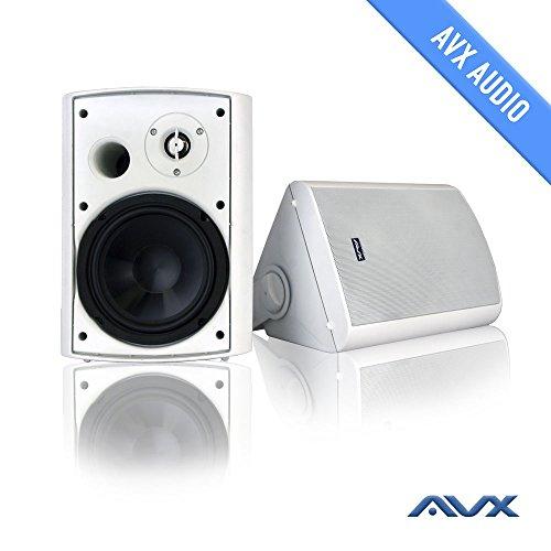 "6.5"" Outdoor weatherproof patio speaker pair (white) PSP-W1 - by AVX Audio"