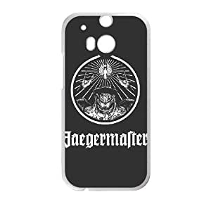 HTC One M8 Cell Phone Case White JaegerMaster White Version JSN Unique Back Case