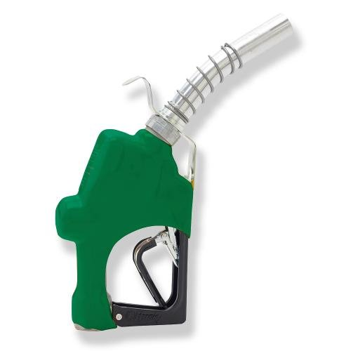 Husky 045703N-03 New 1GS Light Duty Diesel Nozzle with 3-Notch Hold Open Clip, Full Grip Guard, Green Hand Guard and Hanging Hook by Husky (Image #1)