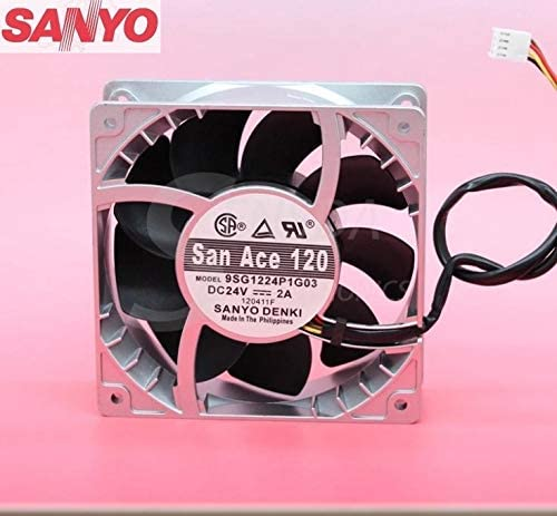 For Sanyo 9SG1224P1G03 24V 2A 12038 12CM axial case cooling