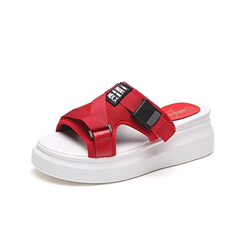 Estivo Pantofole IANGL Rosso Muffin Rosso di aFnwBqHp