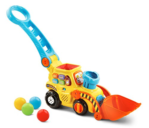 VTech Pop-a-Balls Push & Pop Bulldozer (Best Toys For 18 Month Old Boy)