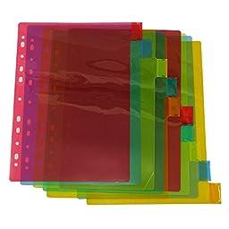 Clear Plastic Separator Survives Longer than Paper Dividers Multi Colour Document Holder Organiser 20 Tabs Set of 2