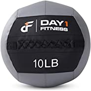 Day 1 Fitness Soft Wall Medicine Ball, for Exercise, Physical Therapy, Rehabilitation, Core Strength - Large D
