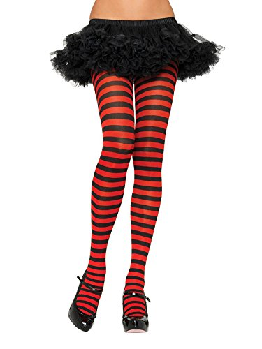 Striped Tights (3X/4X, Black/Red)