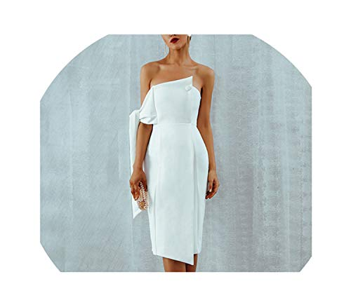Genius-route-store 2019 Summer Celebrity Party Dress Casual White