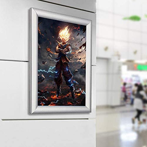 Dragon Ball Z Super Saiyan dise/ño de Dragon Ball Z tama/ño A4 P/óster de anime japon/és