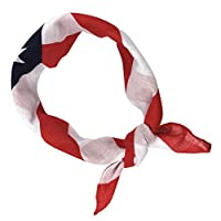 LUOEM American Flag Headbands 4th of July Headband USA Flag Bandana Patriotic Headband for Independence Day 4th of July National Day