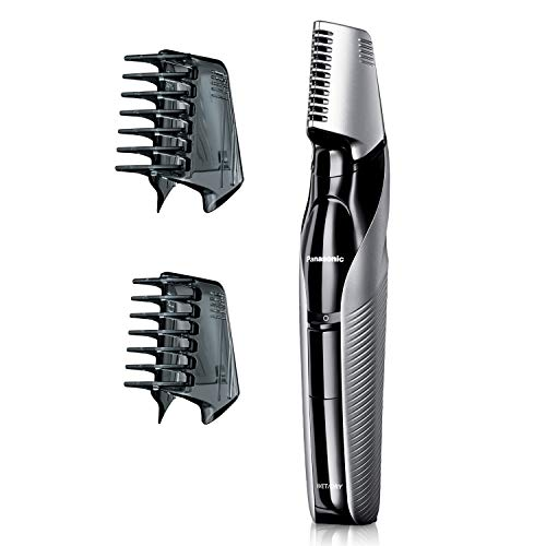 Edge Electric Trimmer - Panasonic Electric Body Hair Trimmer  and Groomer for Men ER-GK60-S, Cordless, Wet/Dry with 3 Comb Attachments, Washable