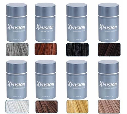 3 Pack Special - XFusion Keratin Hair Fibers - Auburn - Thickens Balding or Thin Hair - 12g by Xfusion