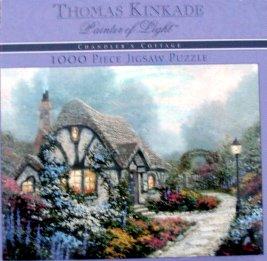 Thomas Kinkade Painter of Light Chandlers Cottage 1000pc. Puzzle Cottage 1000pc Jigsaw Puzzle