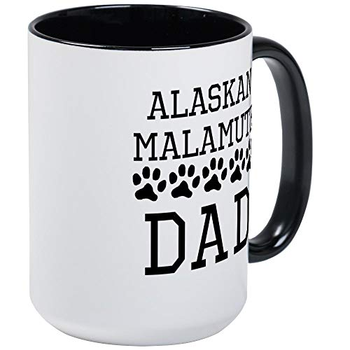 Alaskan Malamute Dad Mug - 11oz RINGER Coffee Mug, Ceramic 11oz Coffee Cup