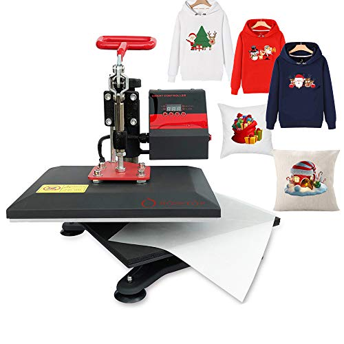 Heat Press 9X12 inch Heat Press Machine Printing Swing Away Transfer Sublimation Heat Press Machine for T-Shirt Teflon Sheet Included