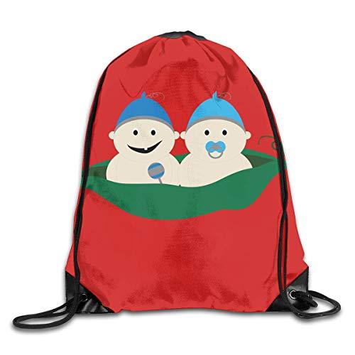 Sweet Red Pea Designs (TPSXXY Baby Peas Large Christmas Drawstring Bag Santa Present Bag Basket Gifts Sack)