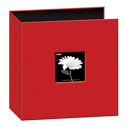 Pioneer Memory Album - Pioneer 8 1/2 Inch by 11 Inch 3-Ring Fabric Frame Cover Memory Binder, Apple Red