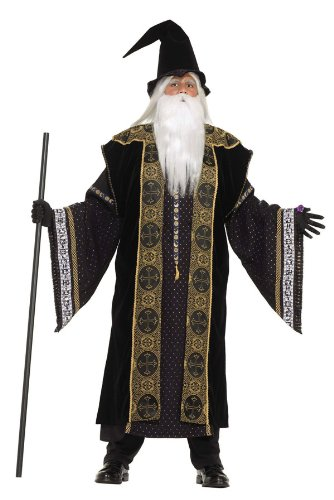 Super Deluxe Wizard Adult Costume - Mens Small 38-40