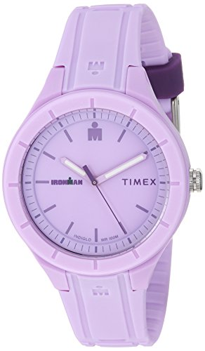 Timex TW5M17300 Ironman Essential Urban Analog 38mm Light Purple/Purple Silicone Strap ()