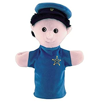 Amazon com: Get Ready Kids Police Officer White Puppet by
