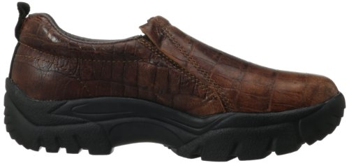Roper Men's Performance Slip-On Casual Western Shoe Bay Brown Crocodile cheap authentic paRHLZQyQw