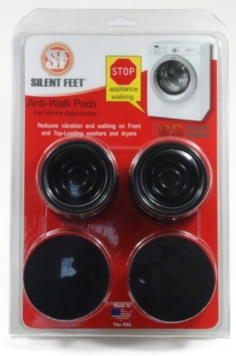 Anti-walk Silent Feet - Anti-Vibration Pads for Washing Machines and Dryers (Dryer Stacked Washer Load Front)